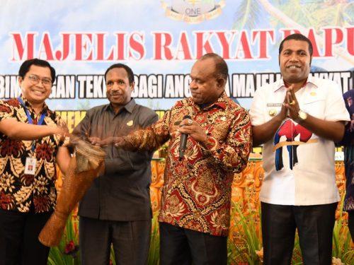 MRP laksanakan Bimtek di Biak, Ini Pesan Asisten I Setda Papua