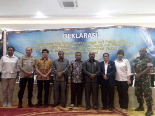 MRP Papua dan MRP-PB, Deklarasikan Bupati/Wakil, Walikota/Wakil Walikota Harus OAP