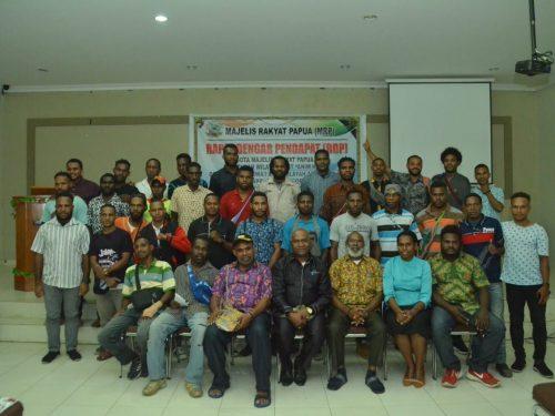 Bahas pemekaran, anggota Pokja Adat MRP temui mahasiswa asal 4 kabupaten Animha