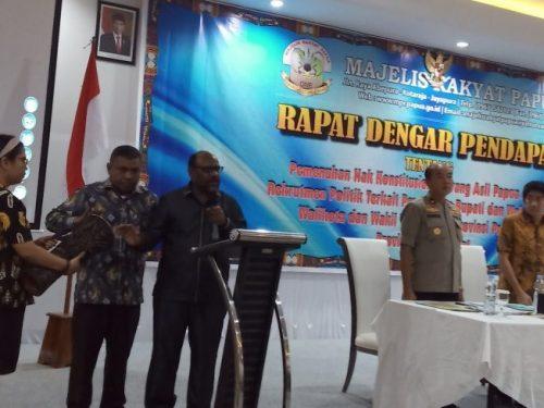 MRP dan MRPB gelar RDP membahas rekrutmen orang asli Papua dalam parpol
