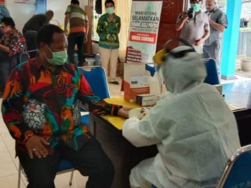 Tes pertama sebelum kunker, pimpinan dan anggota MRP bebas virus corona